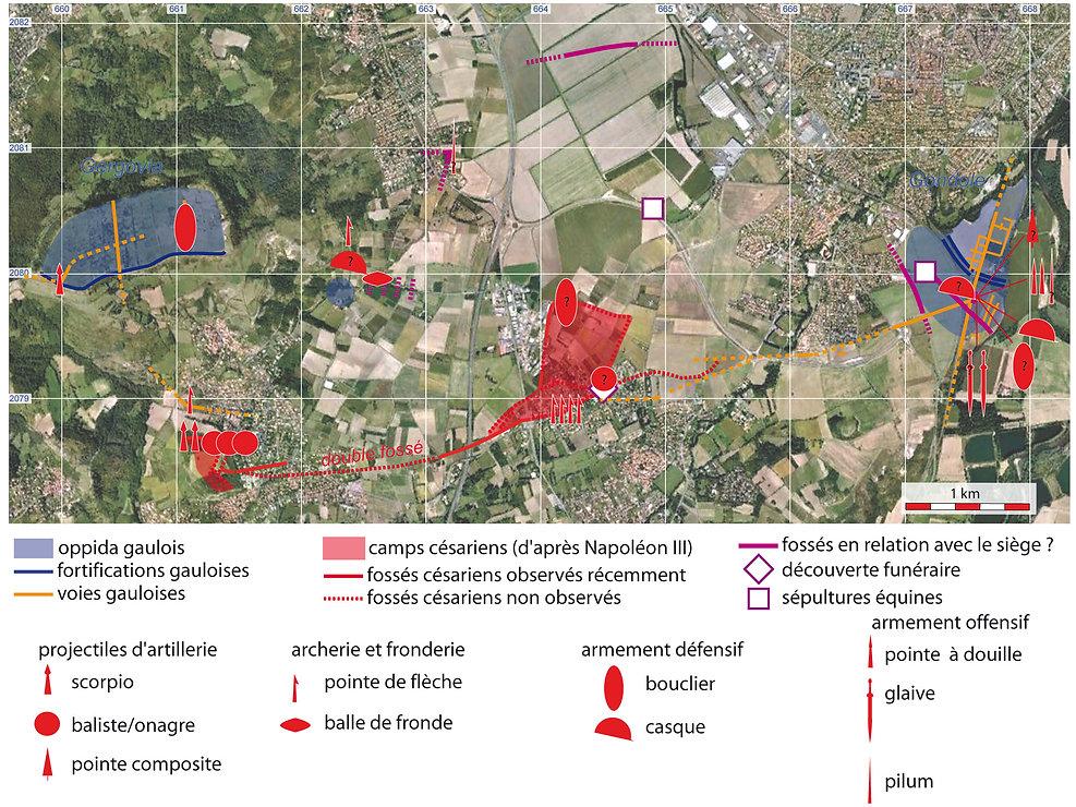 traces de la bataille de Gergovie