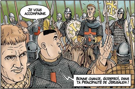Robert Courteheuse et Raymond de Saint Gilles face à Godefroy de Bouillon.