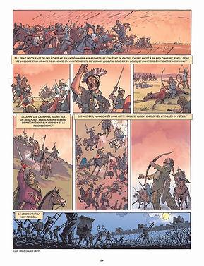 Bataille d'ALESIA, le combat de cavalerie avant l'attaque finale.