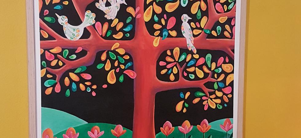 Pajaros - Acrylique sur panneau bois - 80x60