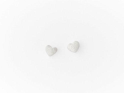 Mat sølv hjerte stiks i 925 sterling sølv