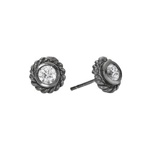 Øres. i RHO sterling sølv med zirkonia