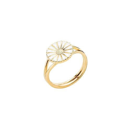 Lund Cph, Marguerit ring i 24 kt. forgyldt sølv, 9mm blomst (925)