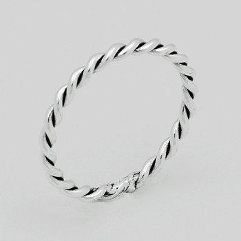 Sterling Sølv Ring 2mm snoet