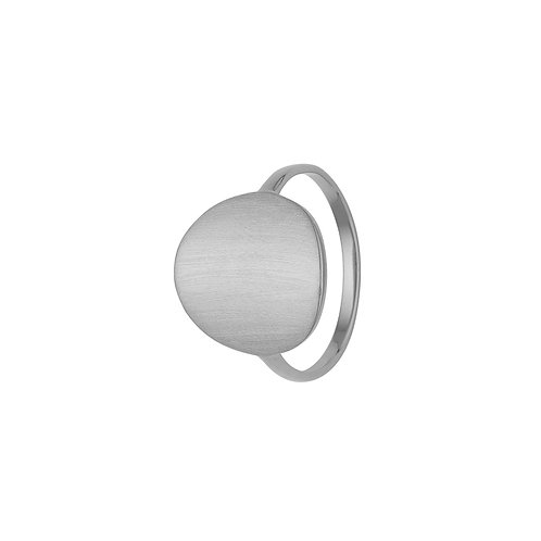 Kranz & Ziegler, Ring med børstet overflade i sterlingsølv (925)