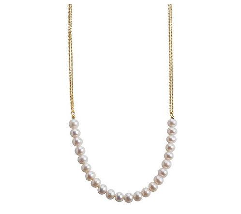 Lieblings, Pearls, Halskæde i forgyldt sterlingsølv og perler (925)