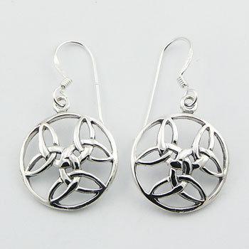 Celtic 3 x trinity hænge øreringe