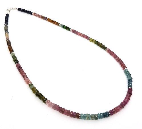 Kila Design, Halskæde med vandmelon turmalin (925)