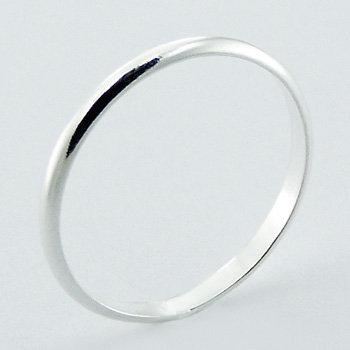 Tynd halvrund ring 2mm i 925 sterling sølv