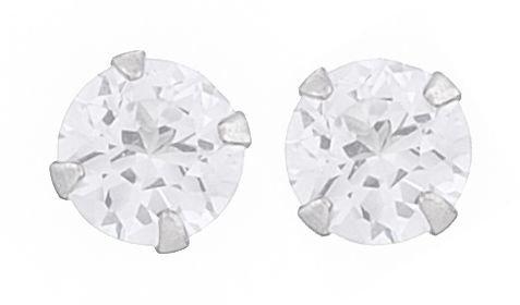 Zirkon runde stiks 4mm i sterling sølv