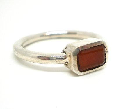Sølv Ring med Karneol