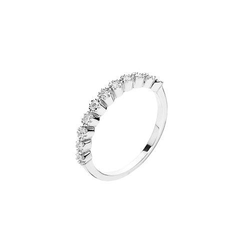 Lund Cph, Alliance ring i 8 kt. hvidguld med diamanter (333)