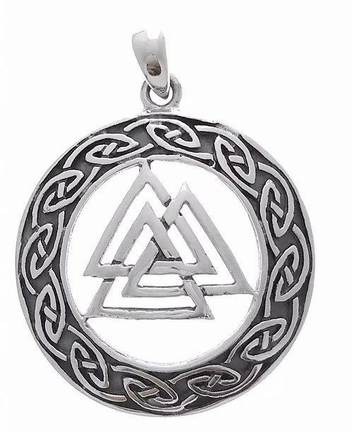 Valknut vedh. med keltisk mønster 925S