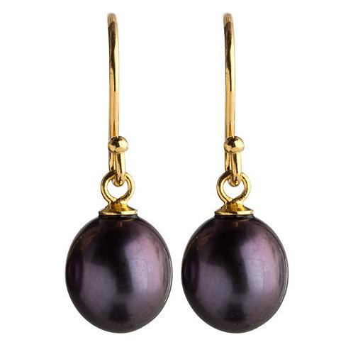 Lieblings, Pearls, Ørehænger i forgyldt sølv med peacock ferskvandsperle (925)