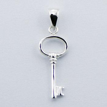 Nøgle vedh. 34mm i 925 sterling sølv