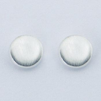 Runde børstet sølv stiks 8mm i 925 sterling sølv