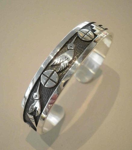Timothy Mowa Hummingbird sølvarmbånd