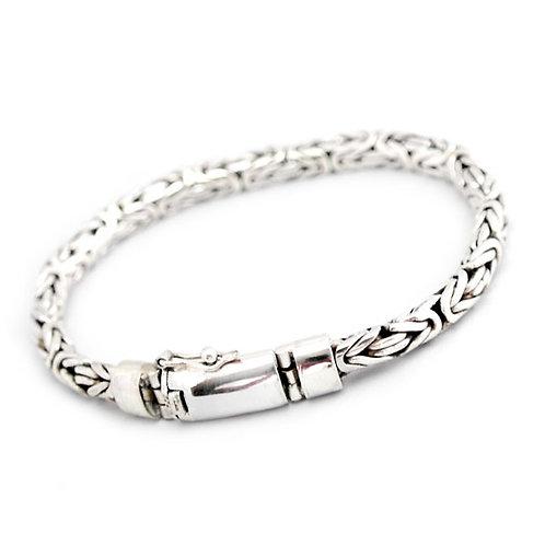Klassisk kongekæde sølv armbånd