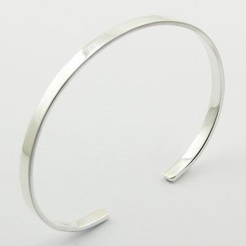Plain sølv armb. 925 sterlingsølv