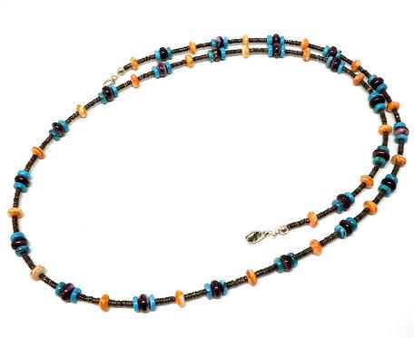 Kila Design, Halskæde med turkis og spiny oyster