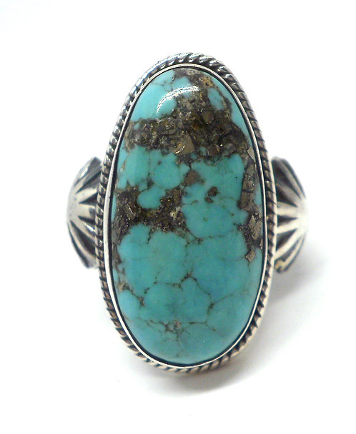 Chimney Butte, Ring i sterlingsølv med turkis (925)