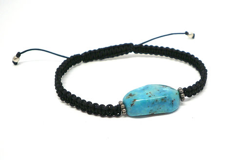 Kila Design, Armbånd knyttet med turkis og sterlingsølv beads (925)