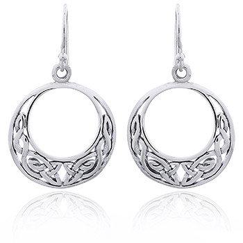 Ørehænger i sterlingsølv, Endless Knot i keltisk design (925)