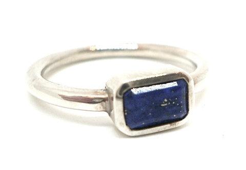 Sølv Ring med Lapis Lazuli