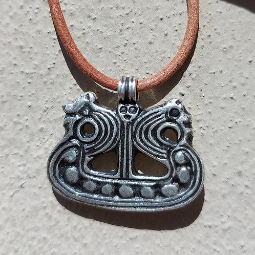 Vedhæng i sterlingsølv, viking skib (925)