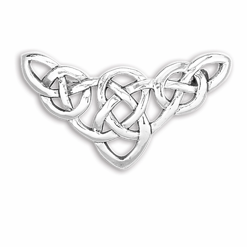 Broche i sterlingsølv, Keltisk knude (925)