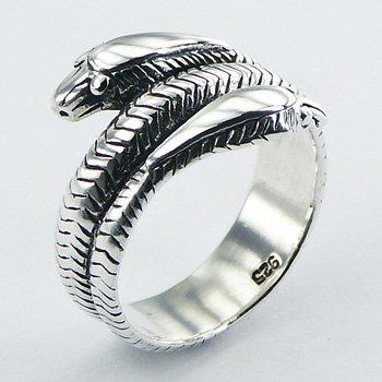 Snake ring i 925 sterling sølv