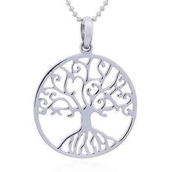 Vedh. Lille rund Livets træ i sterling sølv