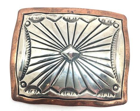 Chimney Butte, bæltespænde i sterlingsølv og kobber (925)