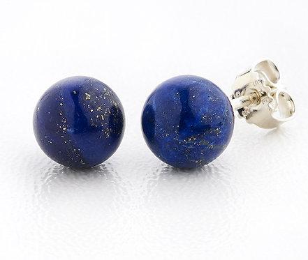 Ørestikker i sterlingsølv med lapis lazuli (925)