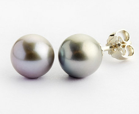 Lieblings, Pearls, Ørestikker i sterlingsølv med grå ferskvandsperle (925)
