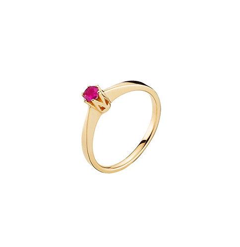 Lund Cph, Ring i 14 kt. guld med rubin (585)