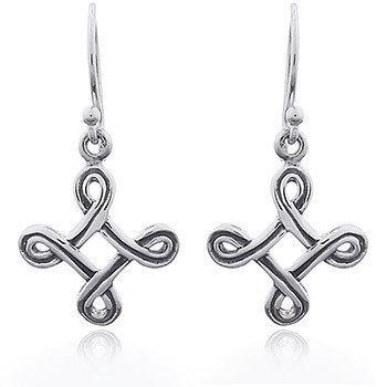 Celtic knude runde hænge øreringe