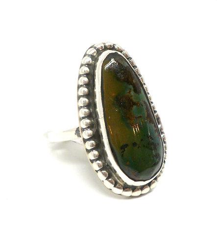 Chimney Butte, Ring i sterlingsølv med grøn turkis (925)