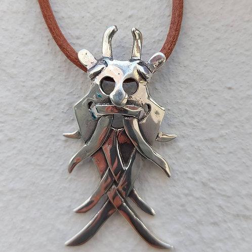 Vedhæng i sterlingsølv, Moesgaard masken (925)