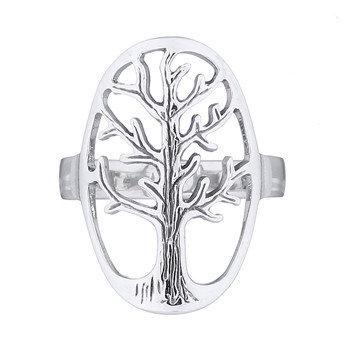 Ring i sterlingsølv, Tree of life oval (925)