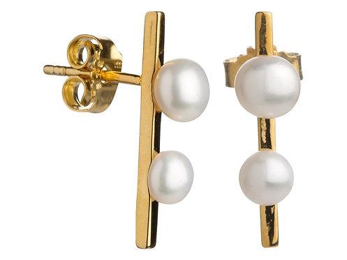 Lieblings, Pearls, Ørestikker i forgyldt sølv, stav med perler (925)