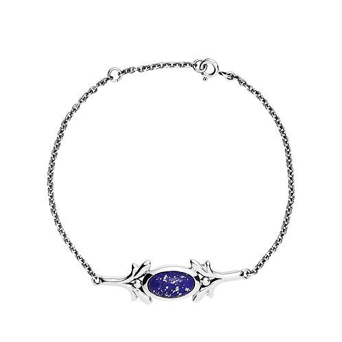 Lund Cph, Armbånd i oxyderet sterlingsølv med lapis lazuli (925)