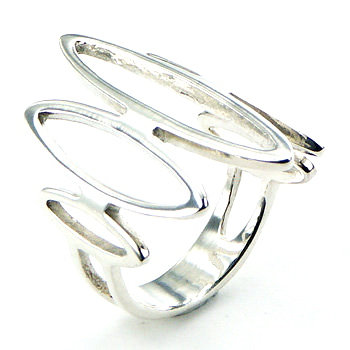 Marquise ring i 925 sterling sølv