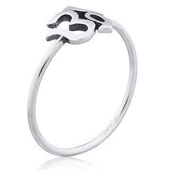 Sterling Sølv Ring 2mm AUM tegn