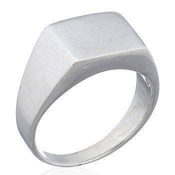 Plain signet ring i 925 sterlingsølv