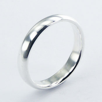 Halv rund ring 4mm i 925 sterling sølv