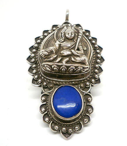 Nepalesisk Sølv Lapis Lazuli Vedhæng