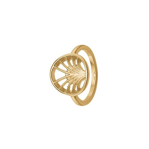 Kranz & Ziegler, Ring med palme motiv i forgyldt sterlingsølv (925)