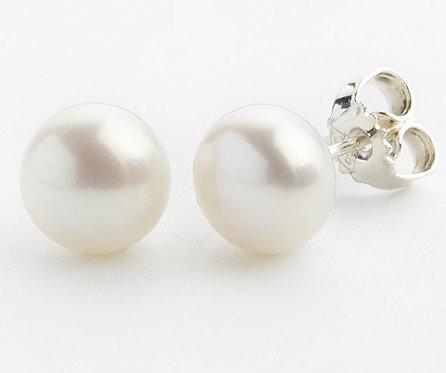 Lieblings, Pearls, Ørestikker i sterlingsølv med hvid ferskvandsperle (925)