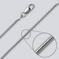 Slange sølvkæde Rhodineret 1,0mm 45cm